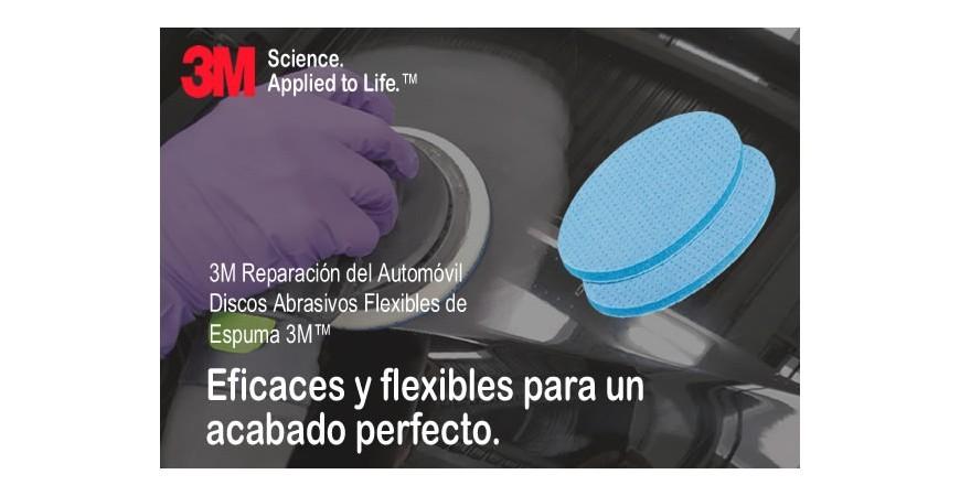 Nuevos discos abrasivos flexibles de espuma 3M™ Hookit™